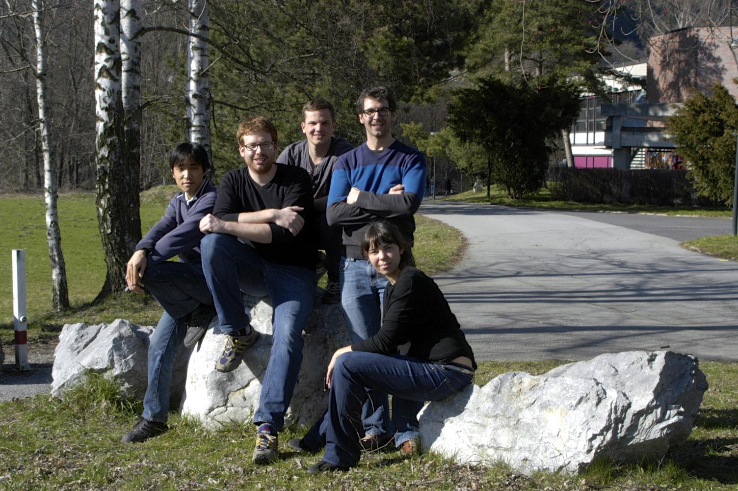 ERBIUM TEAM (2012) Left to right: Kiyotaka, Albert, Simon, Michael, Francesca